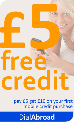 £5 free credit on your first mobile topup